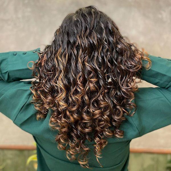 Caramel Ombre Curls