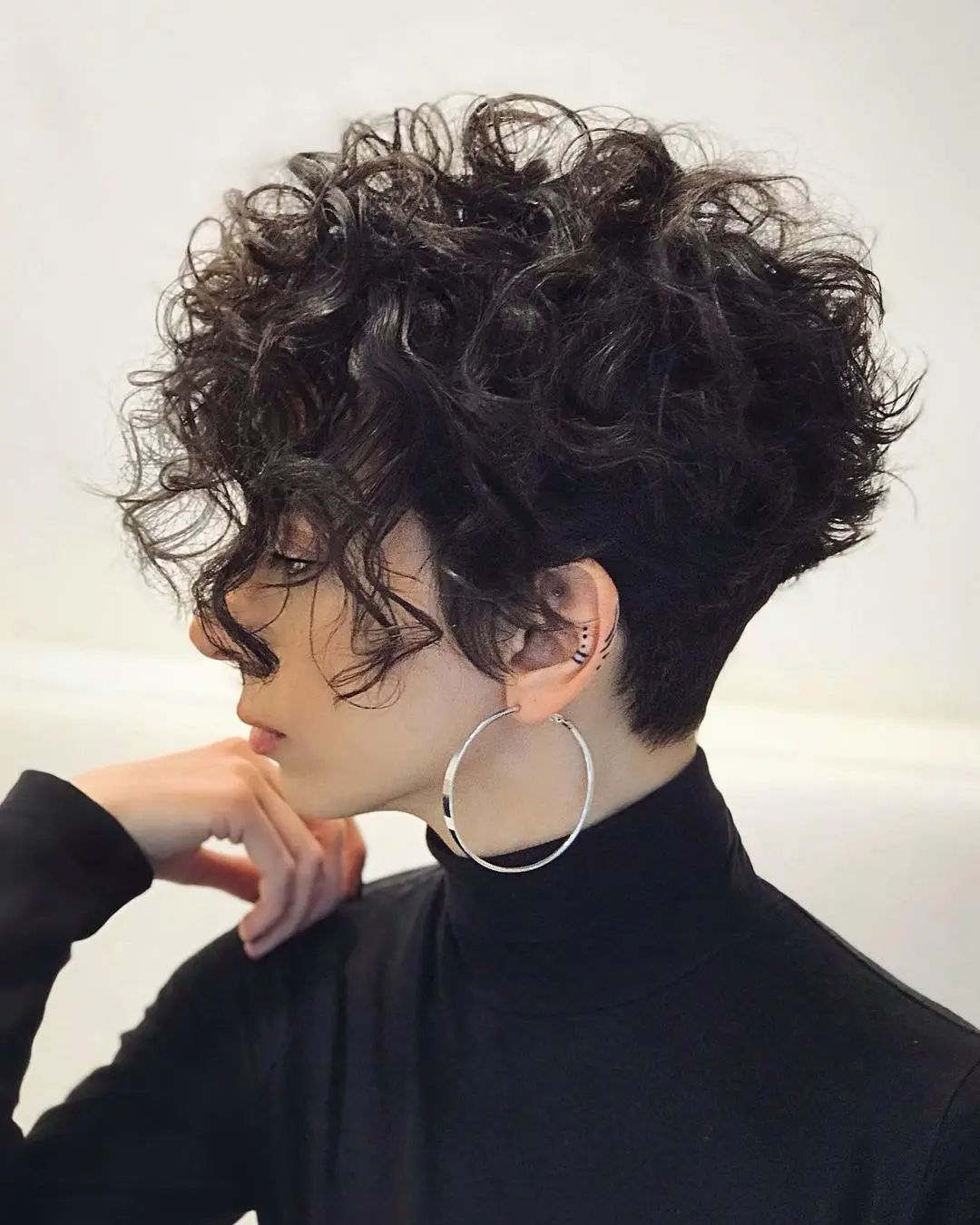 Curly Pixie Bangs